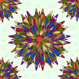 Bright seamless pattern with round ornaments. Royalty Free Stock Image