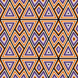 Bright seamless pattern with symmetric geometric ornament. Colorful abstract background. Ethnic and tribal motifs. Bright seamless pattern with geometric Royalty Free Stock Photography