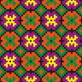 Bright seamless pixel art pattern Stock Photography