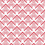 Bright Seamless pixel patterns winter Stock Photography