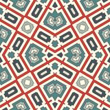 Bright seamless pattern with geometric ornament in pastel colors. Colorful abstract background. Ethnic and tribal motifs. Bright seamless surface pattern with Stock Images