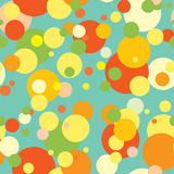 Bright seamless texture. Balls of different colors and sizes stock illustration