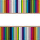 Bright seamless vector pencils background Stock Photography