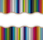 Bright seamless vector pencils background Royalty Free Stock Image