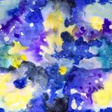 Bright Seamless Watercolor Abstract Pattern Stock Photography