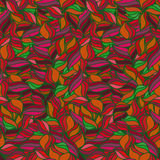 Bright seamless wavy pattern. Summer background. Red and orange colors. Royalty Free Stock Photography
