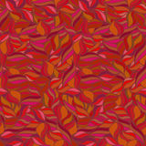 Bright seamless wavy pattern. Summer background. Red and orange colors. Stock Photo