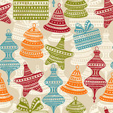 Bright Seamless Winter Pattern Stock Photos