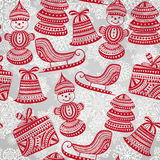 Bright Seamless Winter Pattern Stock Photography