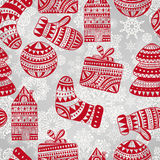 Bright Seamless Winter Pattern Royalty Free Stock Photography