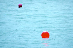 Bright Seascape with Red Buoy Stock Photos