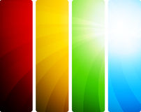 Bright set of banners Stock Photography