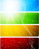 Bright set of banners Royalty Free Stock Images