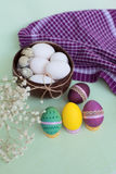 Bright set of Easter eggs Royalty Free Stock Images