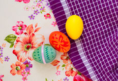 Bright set of Easter eggs Stock Photo