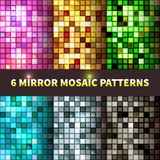 Bright set of shiny seamless mirror mosaic Stock Photography