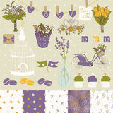Bright set for wedding design. Save the date. Stock Photo