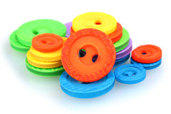 Bright sewing buttons Royalty Free Stock Photos