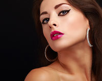 Bright makeup with black arrows Stock Photo