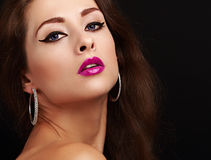 Bright sexy makeup with black arrows Royalty Free Stock Photography