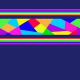 Bright shards mosaics. Border. Bright shards mosaics on dark backgrounds Stock Photos