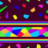 Bright shards mosaics. On dark backgrounds Royalty Free Stock Images
