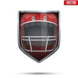 Bright shield in the american football helmet Stock Photography