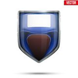 Bright shield in the boxing helmet inside. Vector. Royalty Free Stock Photo