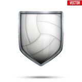 Bright shield in the volleyball ball inside. Royalty Free Stock Images