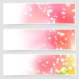 Bright shimmering seasonal web header set Stock Photography