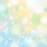 Bright shine background with bokeh and snowflakes, vector Stock Photography
