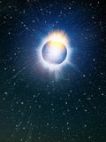 Bright shine star in space Royalty Free Stock Image