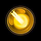 Bright Shining Light Flourescent Reflector  Black Stock Images