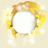 Bright shining sun. Golden summer frame vector illustration