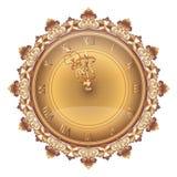 Bright shining wall clock Royalty Free Stock Photography