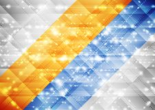 Bright shiny abstract sparkling tech background. Vector design Stock Image
