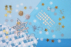 Bright and shiny accessories for Christmas craft and scrapbookin Stock Photos