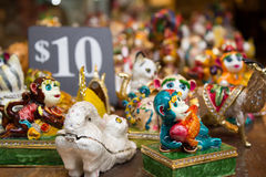 Bright and shiny animal statuettes Royalty Free Stock Photo
