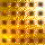 Bright shiny background. Bright shiny golden circle mosaic for festive disco background Stock Photos
