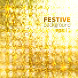 Bright shiny background. Bright shiny golden mosaic festive disco background Stock Photos
