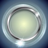 Bright shiny background with metal circle frame Royalty Free Stock Photo