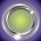 Bright shiny background with metal circle frame Stock Photography