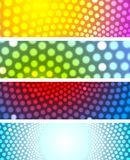 Bright shiny circles abstract banners Stock Photo