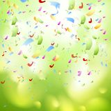 Bright shiny confetti abstract design template Stock Images