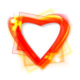 Bright shiny frame in the shape of heart Royalty Free Stock Photos