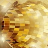 Bright shiny golden polygonal mosaic tunnel for festive holiday. Disco background. Vector illustration Stock Images