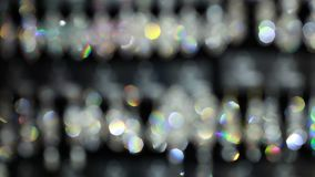 Bright shiny jewelry. Defocused bright shiny jewelry close up. Blur stock footage