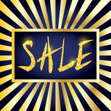 Bright and shiny sale announcement banner. Glitter sale sign Royalty Free Stock Photos