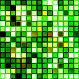 Bright shiny seamless mirror mosaic. Of square tiles of green glittering glass Royalty Free Stock Images
