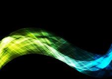 Bright shiny waves on black background Royalty Free Stock Image